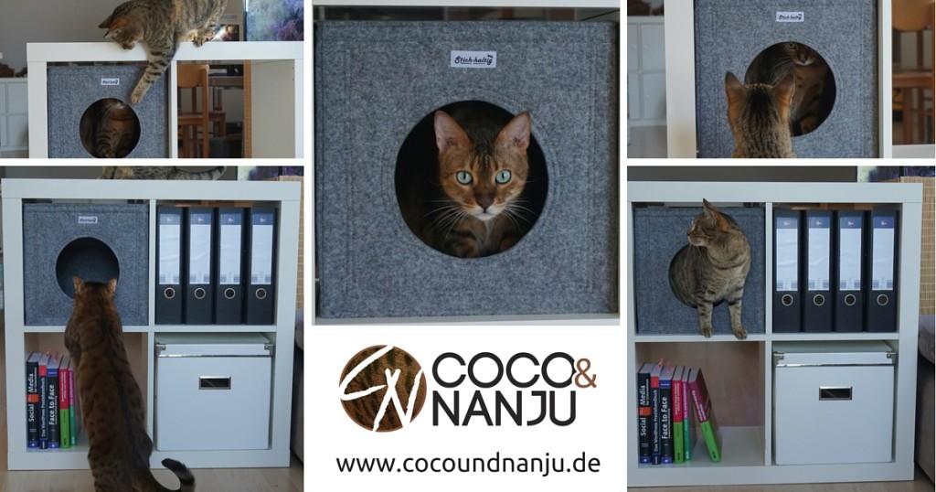 Katzenhöhle IKEA Regal2